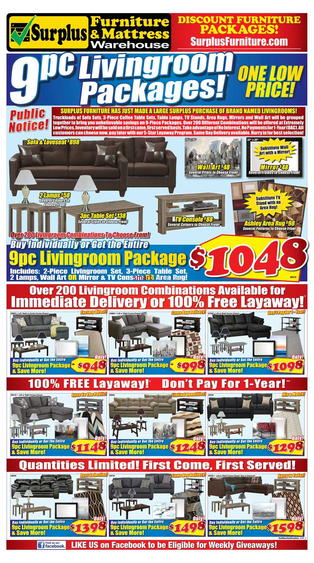 Surplus Furniture and Mattress Warehouse Canada Flyers