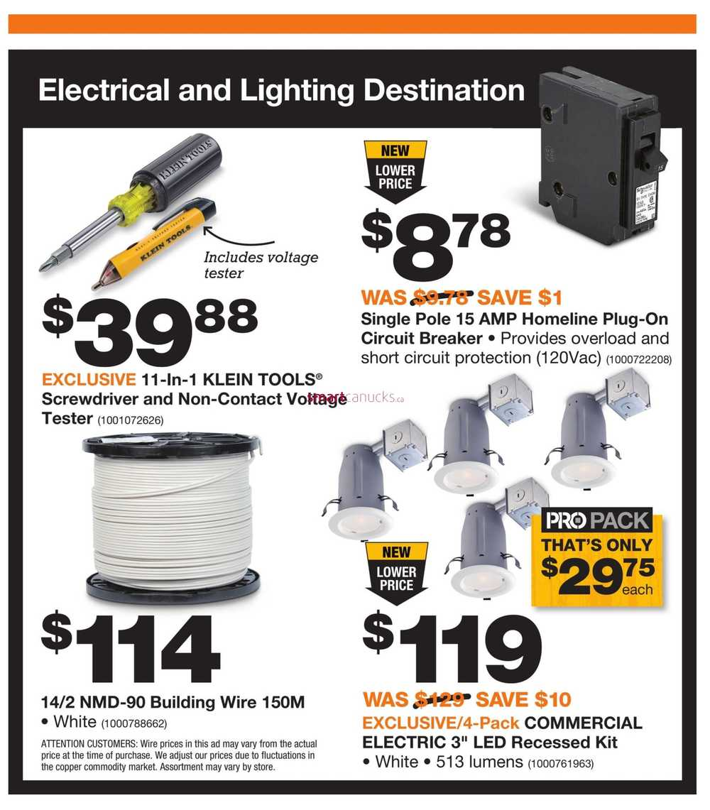 Home Depot Pro Savings Flyer October 31 To November 14 Wiring Simplified View