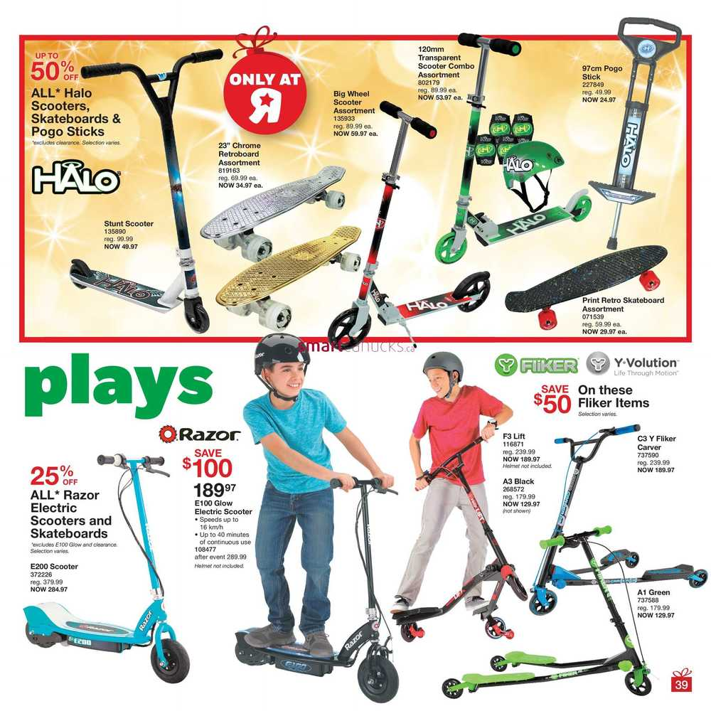 Razor Electric Scooter Toys R Us Canada Toys R Us Canada Flyer Shop