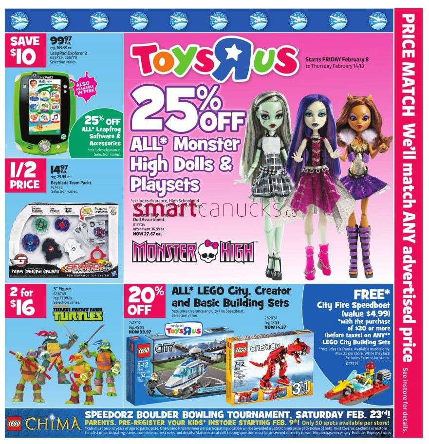 R Flyers Toys R Us flyer...