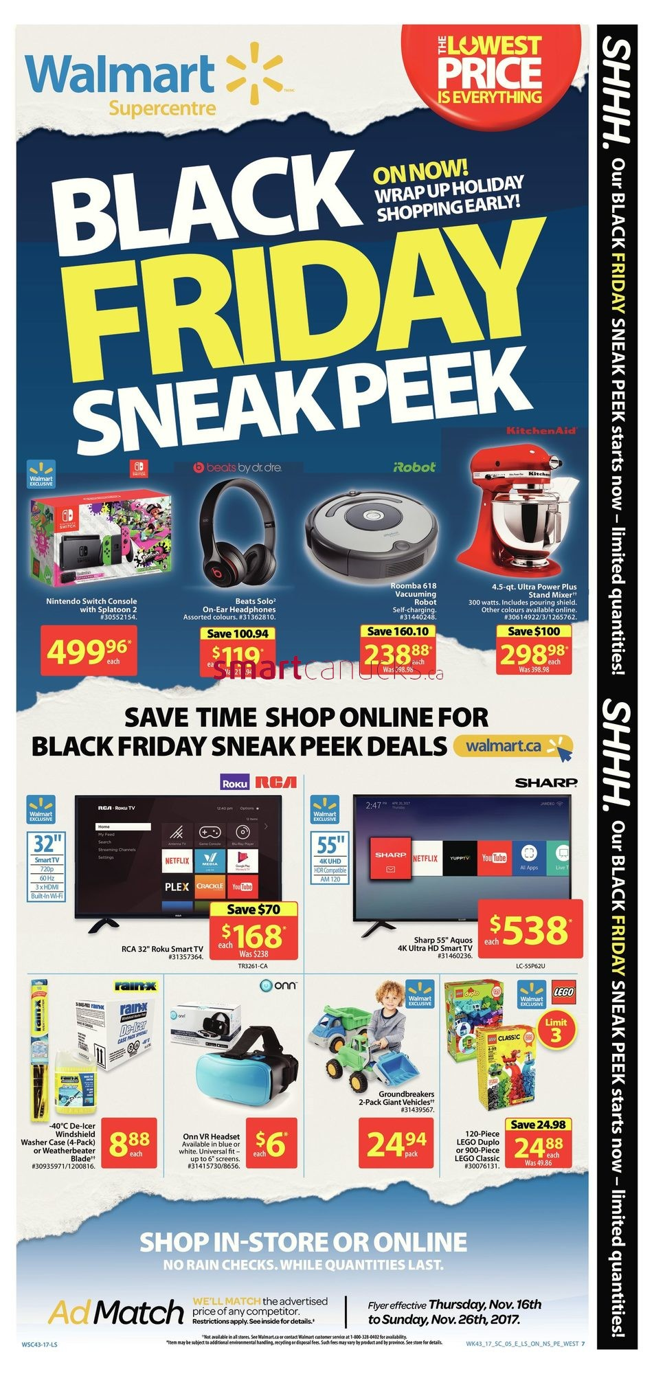 walmart canada black friday flyer deals 2017 sneak peek leaked walmart canada flyers coupons. Black Bedroom Furniture Sets. Home Design Ideas