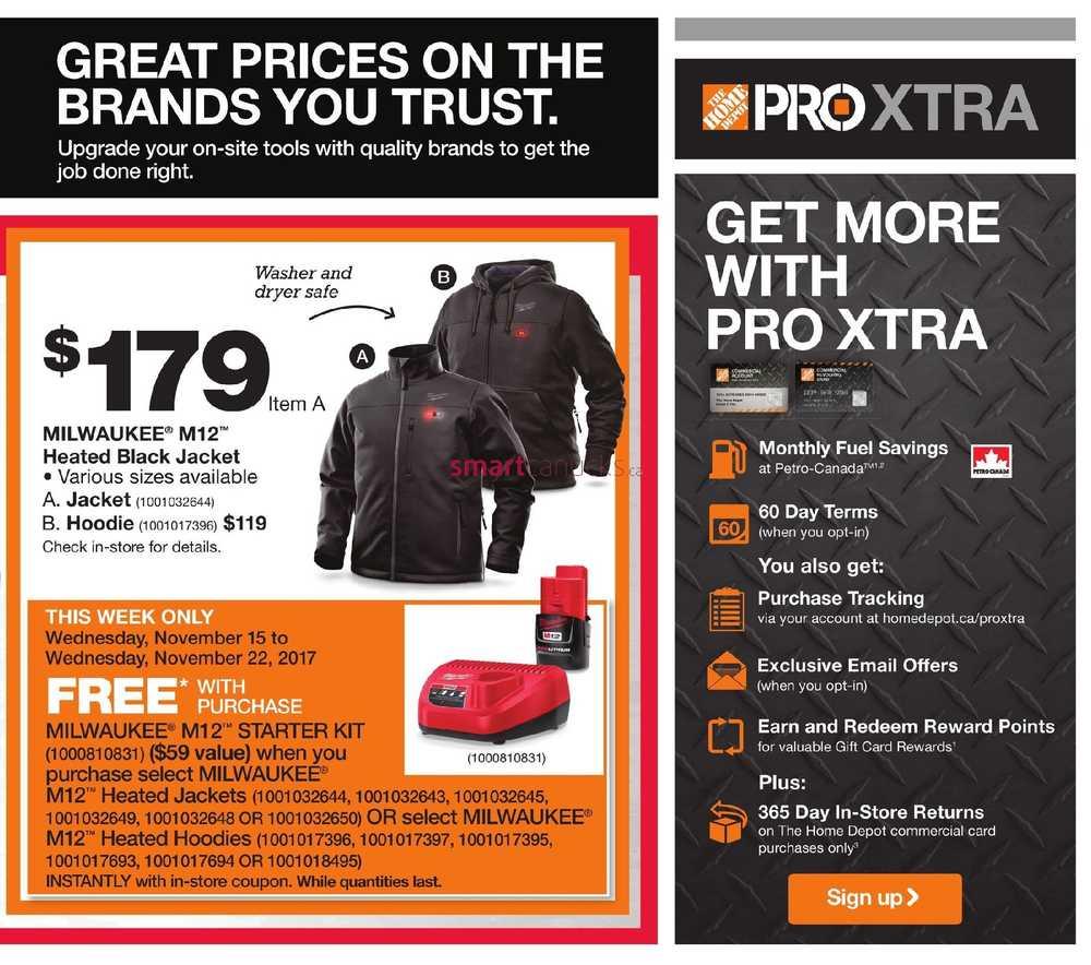 Home Depot Pro Savings Flyer November 15 To 22