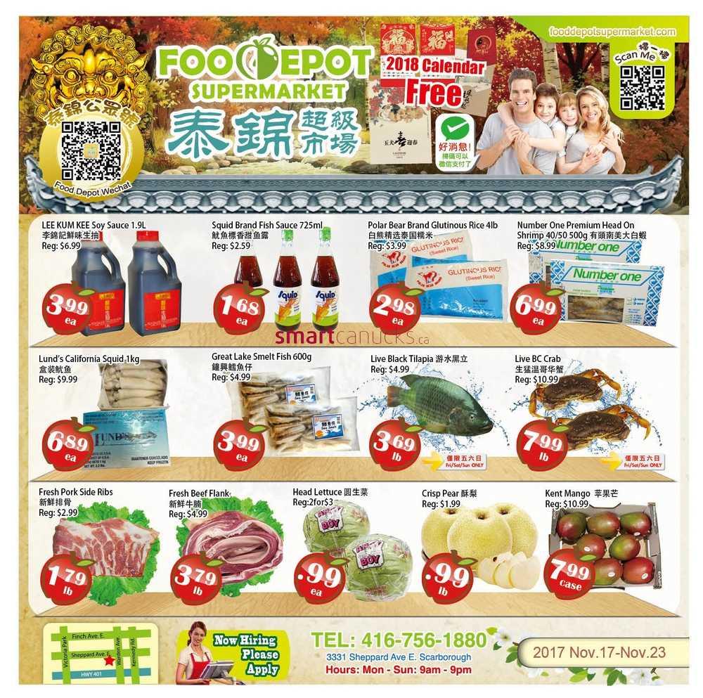 Food Depot Supermarket Hours