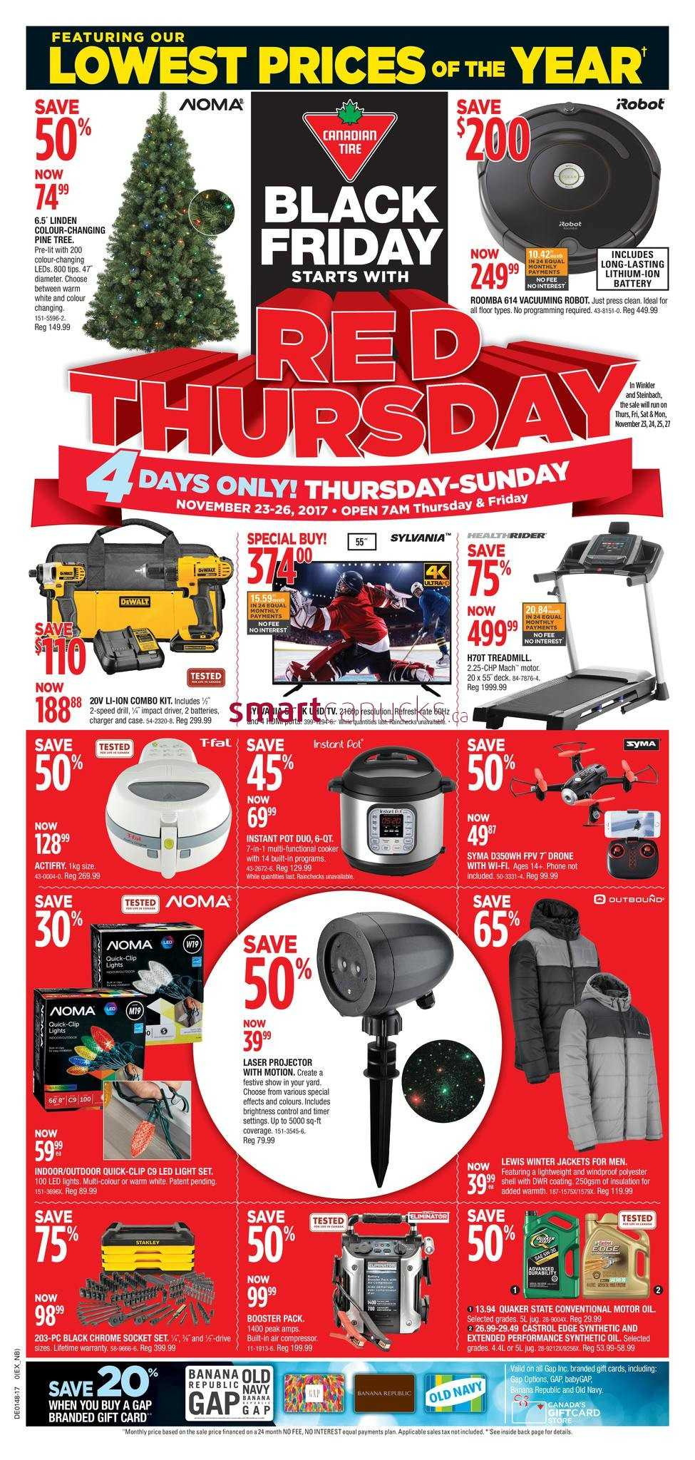 Canadian Tire Black Friday flyer Nov 23 26