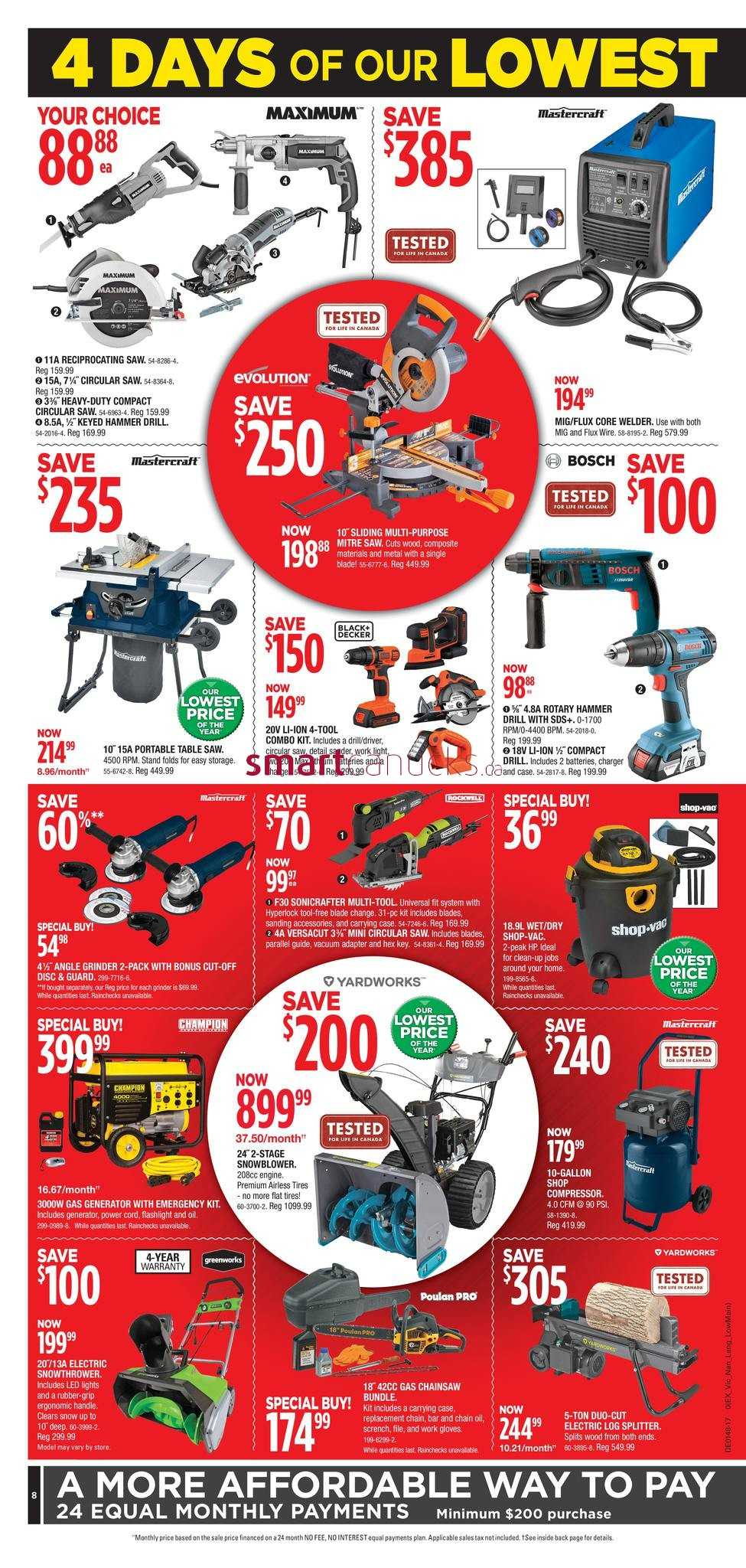 Canadian Tire Black Friday Cyber Monday Flyer November 23 To 26 2017