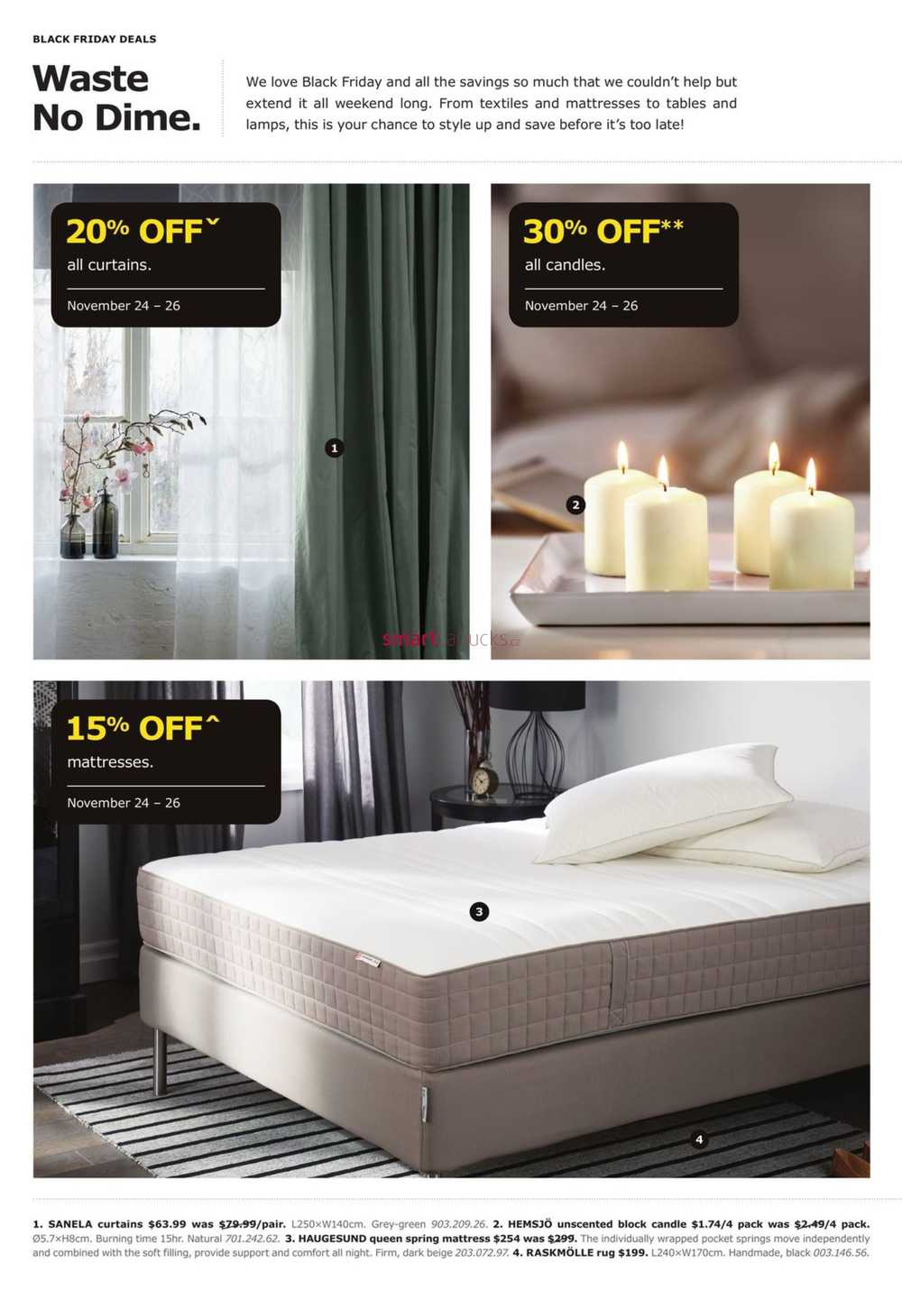 ikea black friday flyer nov 24 26. Black Bedroom Furniture Sets. Home Design Ideas