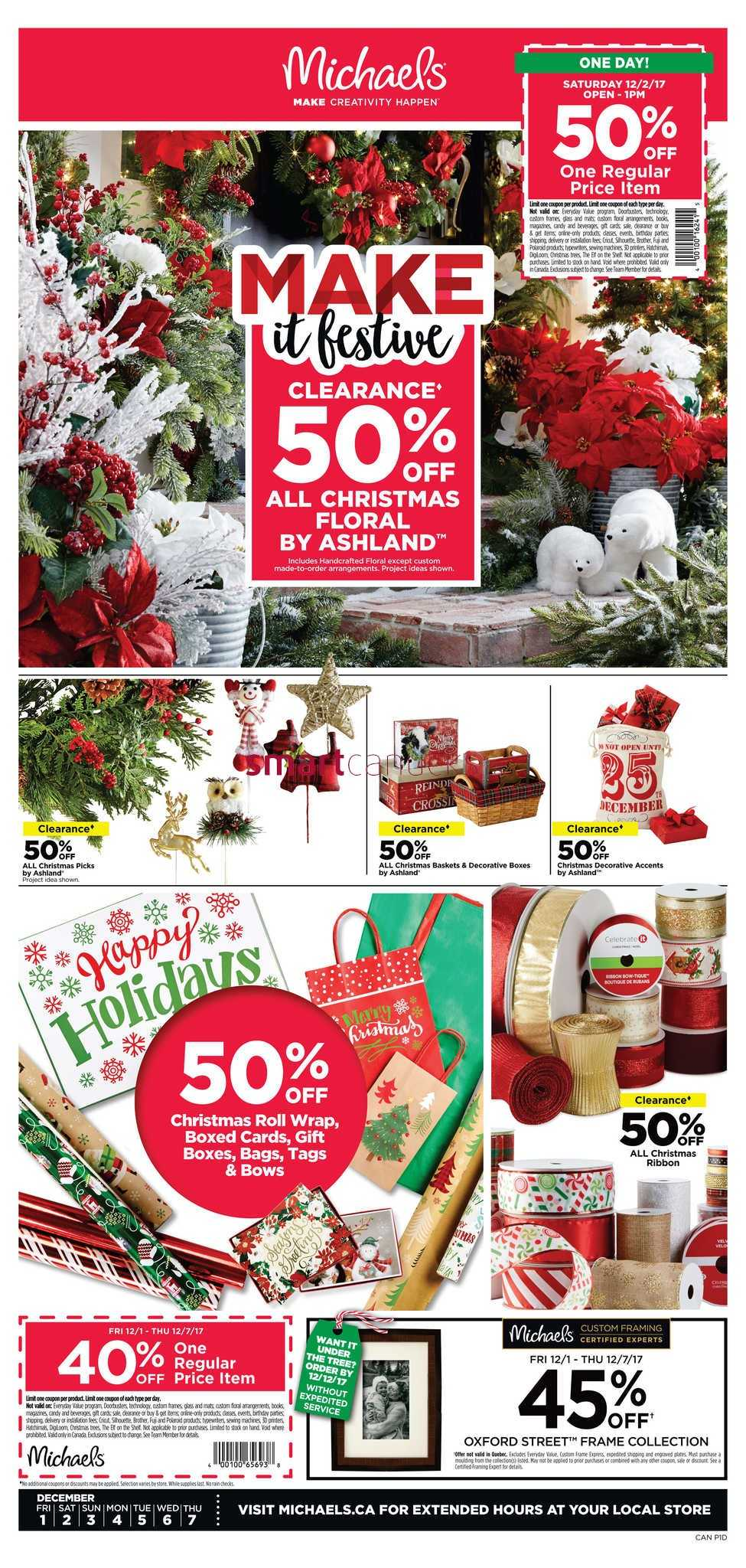 michaels flyer december 1 to 7