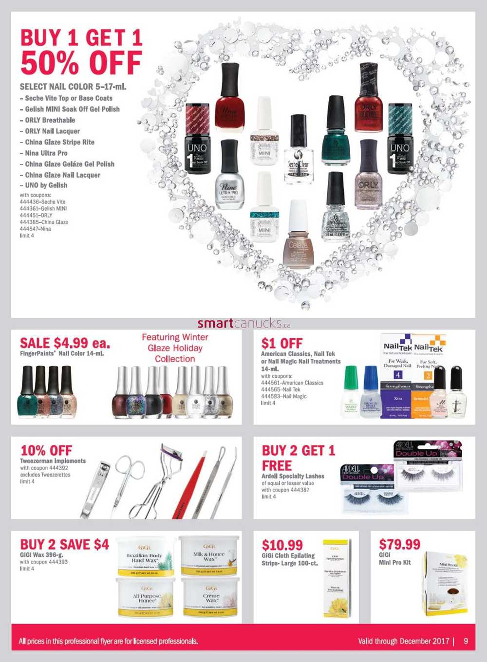 Sally Beauty Supply Pro Flyer December 1 to 31