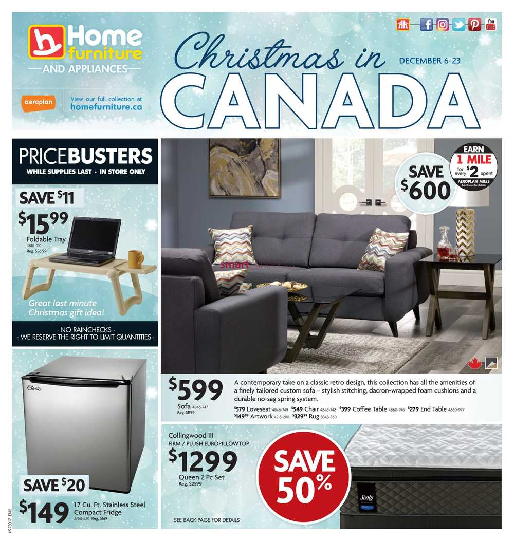 Home Furniture  Atlantic  Flyer December 6 to 23. Home Furniture Canada Flyers