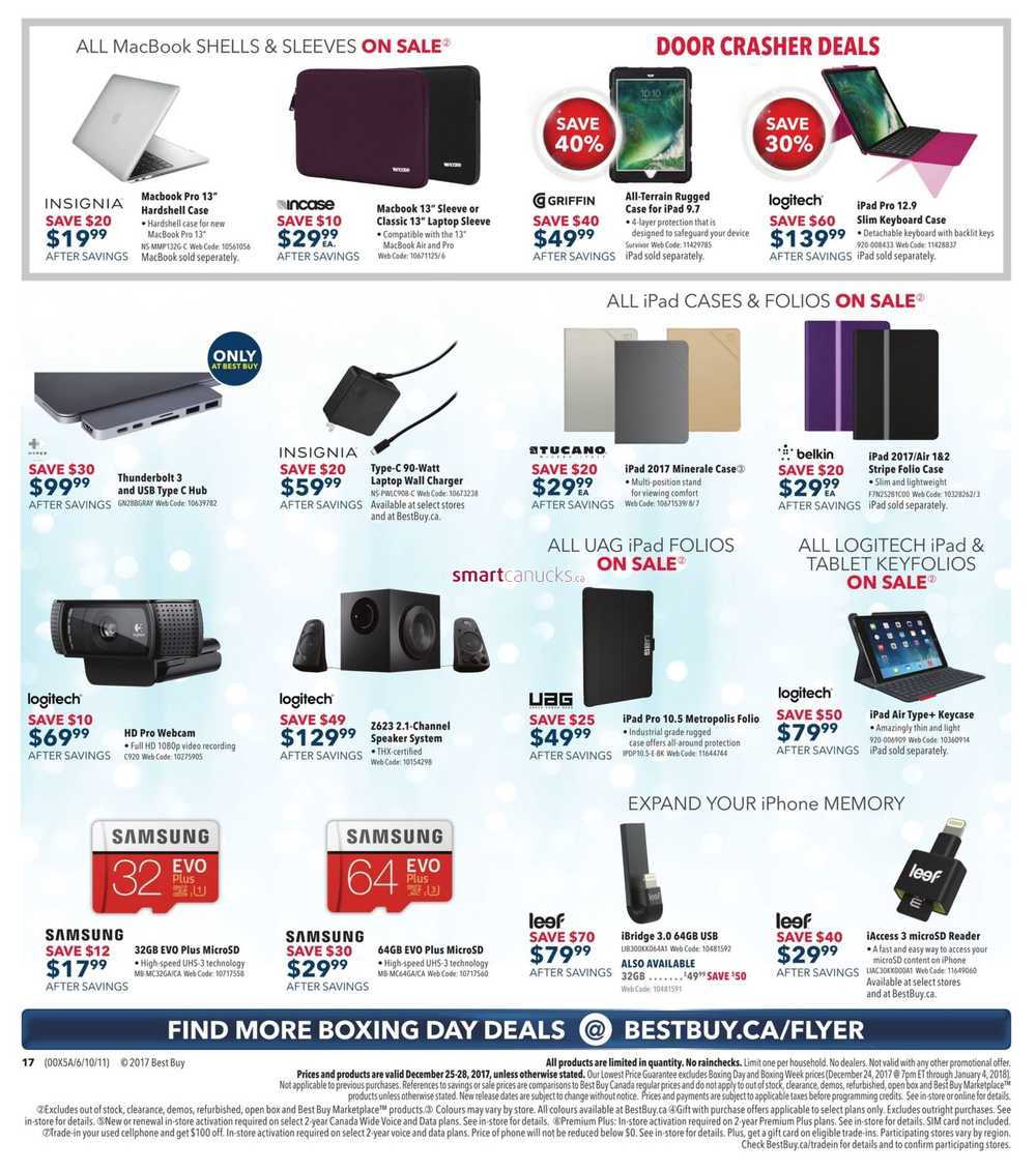 Best Buy Boxing Day Sale Flyer December 24 To 28 2017