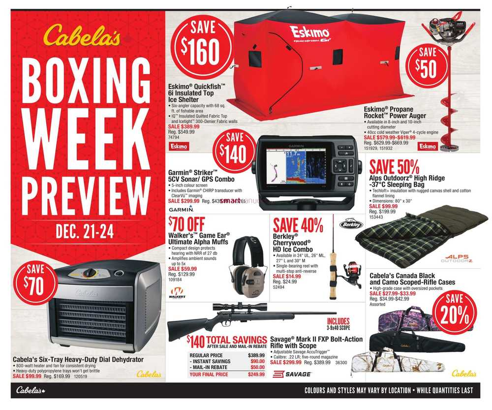 Cabela's Flyer December 21 to 24