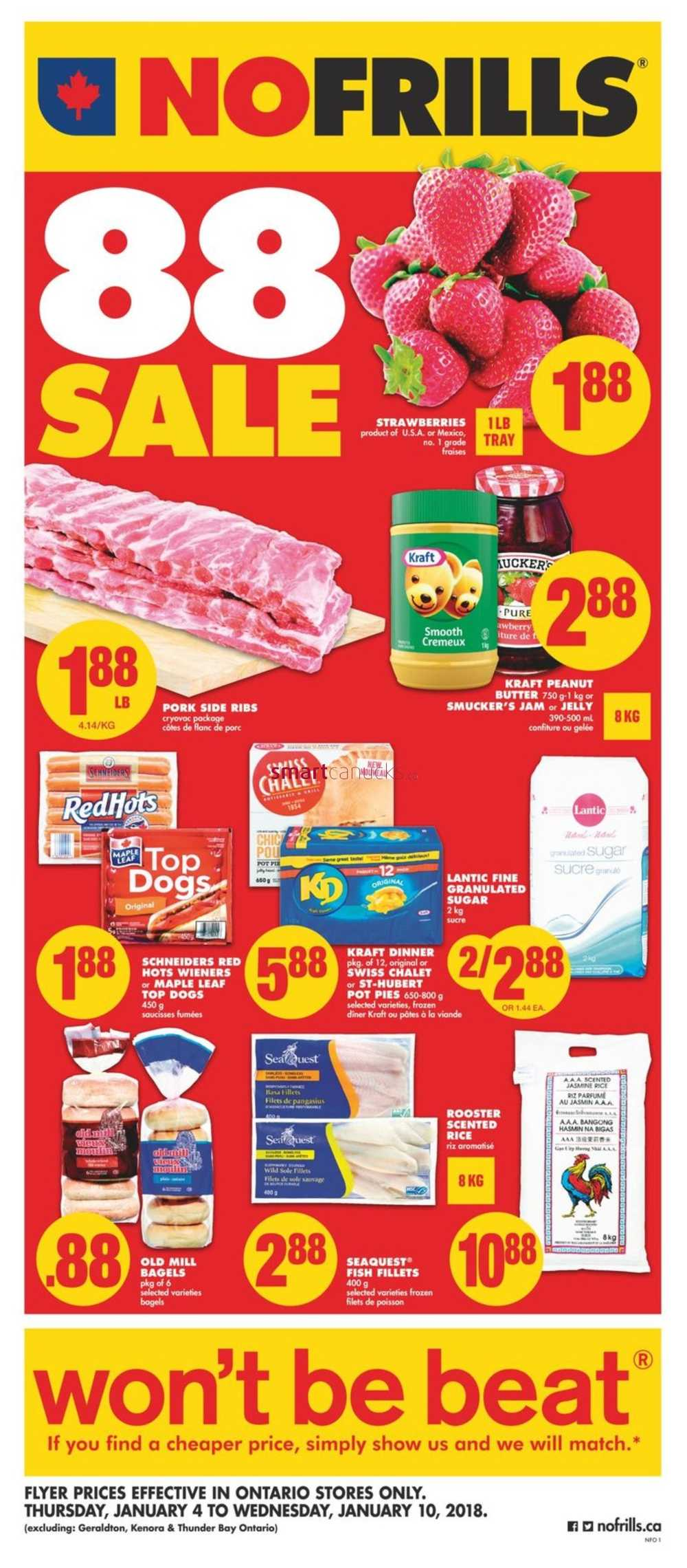 no frills  on  flyer january 4 to 10