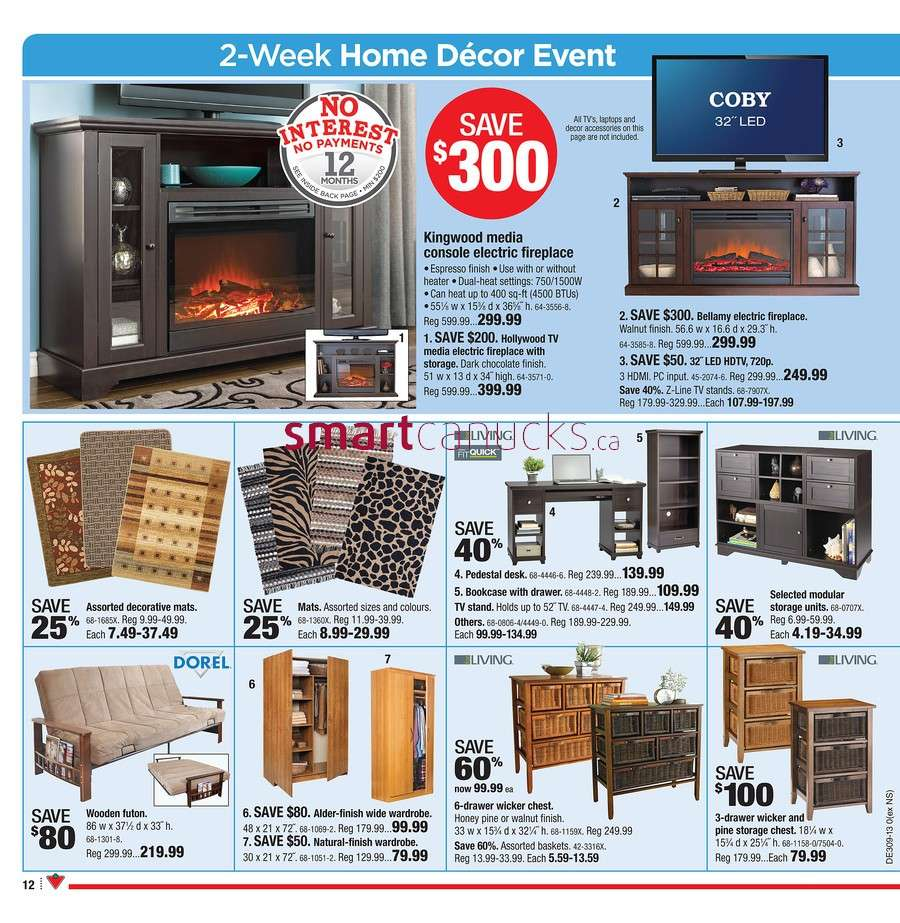 Canadian Tire Flyer Feb 22 To 28 # Meuble De Tv Canadian Tire