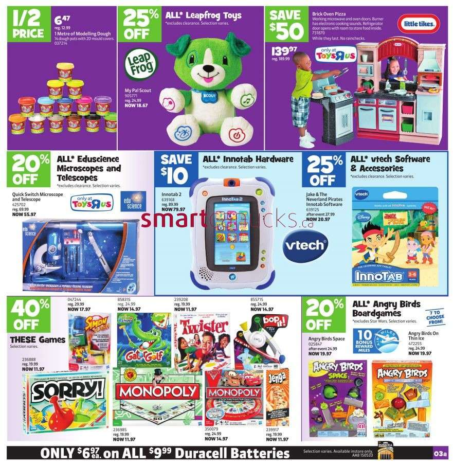 Toys R Us Flyer : Toys r us flyer mar to
