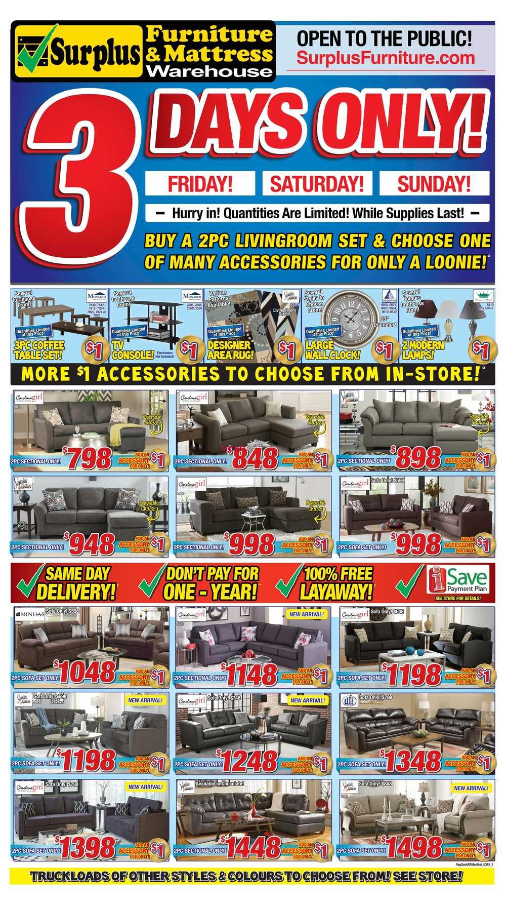 Ordinaire Surplus Furniture U0026 Mattress Warehouse (Saskatoon) Flyer February 27 To  March 5